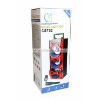 Altavoz torre CS752 con microfono Bluetooth USB pendrive TF card memoria radio