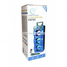 Altavoz torre CS753 con microfono Bluetooth USB pendrive TF card memoria radio