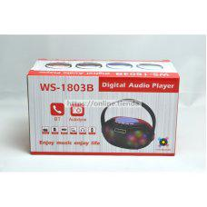 Altavoz WS-1803B Bluetooth USB pendrive TF card memoria radio con LED