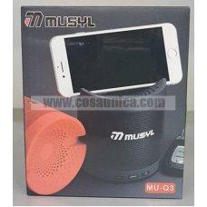 Altavoz MU-Q3 con soporte de móvil bluetooth