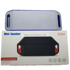 Altavoz S204 Bluetooth USB pendrive TF card memoria radio