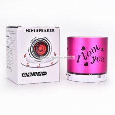 Q609 Altavoz bluetooth con luz LED I-Love-You