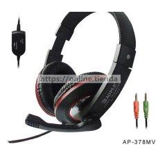 AP-378MV Auricular casco PC para ordenador con microfono