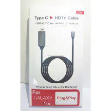 cable HDMI para movil tipo-c galaxy S8