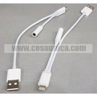 Cable adaptador de 3.5 mm Jack para iphone 7 / iphone7 plus con conector de carga macho