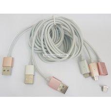 Cable magnetico para microub v8 con luz de indicador
