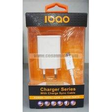 Cargador MicroUSB V8 2 en 1 de alta calidad 2.1A IBAO