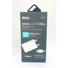 IBAO Cargador con cable para microusb v8 con 1 año garantia