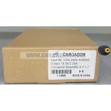 Cargador de Portatil 19.5V 2.05A 40W 4.0*1.7mm para HP ref:11886
