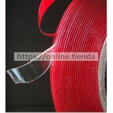 Cinta adhesivo doble cara roja 2mm/4mm/8mm