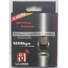 Mini USB Wi-Fi wifi adaptador LV-UW06